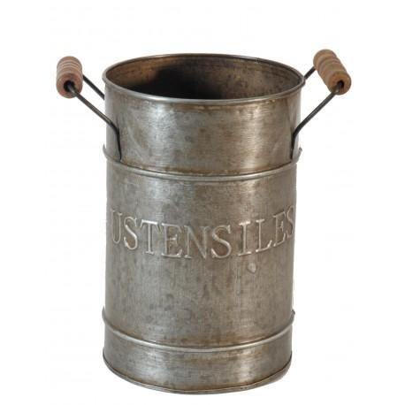 """Pot """"Ustensiles"""" en zinc"""