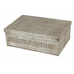 Boîte à sucre couleur zinc