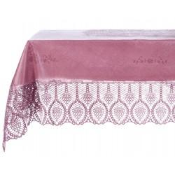 Vinyl lace tablecloth purple 152x228 cm