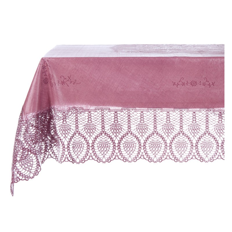nappe en dentelle de vinyle purple 152 x 228cm par blanc mariclo. Black Bedroom Furniture Sets. Home Design Ideas