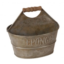 Porte savon / éponge zinc