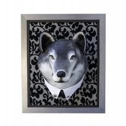 Karl le loup, trophée décoratif à suspendre