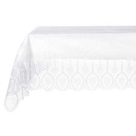 nappe en dentelle de vinyle blanc 152 x 228cm par blanc mariclo. Black Bedroom Furniture Sets. Home Design Ideas