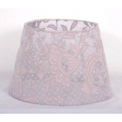 Round white lace lampshade transparent - diameter 20 cm