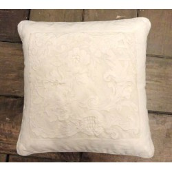 White cushion Reine 45x45 cm