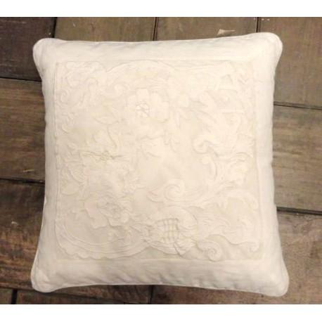 Coussin Reine Blanc 45x45 cm