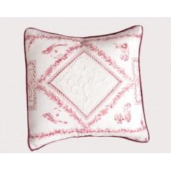 White cushion Reine 45x45 cm