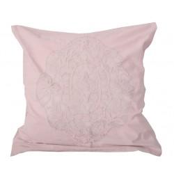 Taie d'oreiller Arabesque rosé poudré 65x65 cm