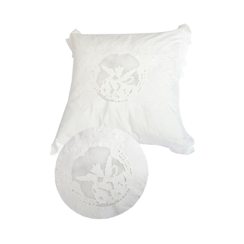 taie d 39 oreiller saint paterne ivoire 60x60 cm de chez. Black Bedroom Furniture Sets. Home Design Ideas
