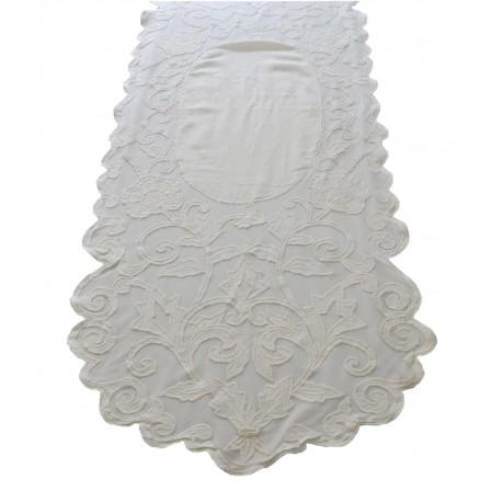 Chemin de table musette ivoire 60x180 cm de chez coquecigrues for Chemin de table 180 cm