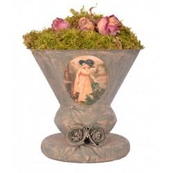 Vase bucolique lychen