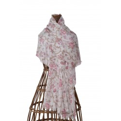 Étole Dalhia en laine 60x180 cm