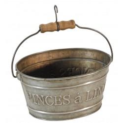 Zinc pot clothespin