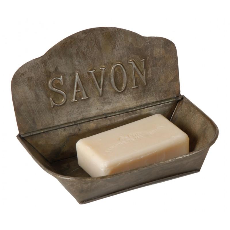 Porte savon en zinc par antic line for Porte savon salle de bain