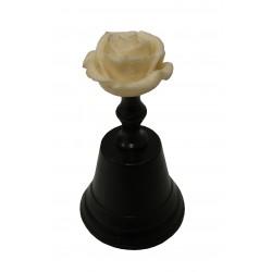 Clochette au motif rose blanche