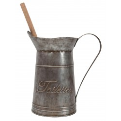 "Zinc pot with brush ""Toilettes"""
