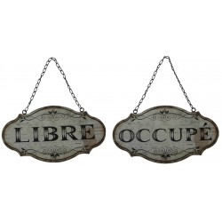 Plate hanging LIBRE-OCCUPE