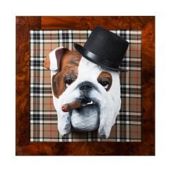 Max le bulldog anglais, trophée décoratif à suspendre