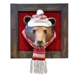 Jules l'ours brun, trophée décoratif à suspendre