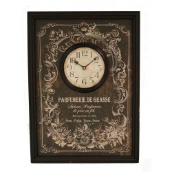 "Wall clock ""Parfumerie de Grasse"" 55x40 cm"