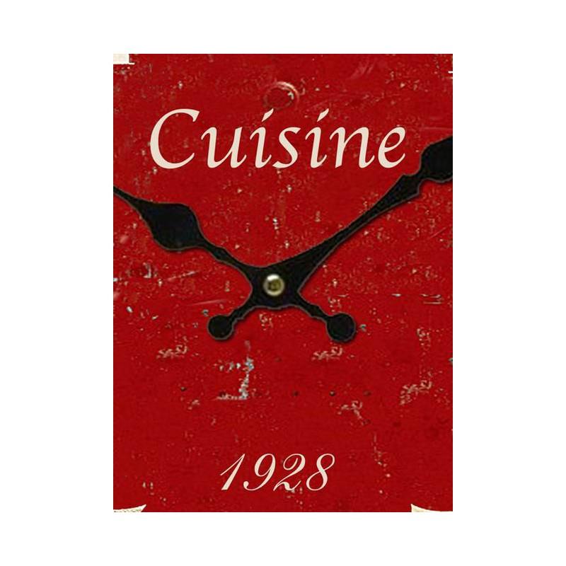 Pendule rouge cuisine par antic line for Pendule de cuisine rouge