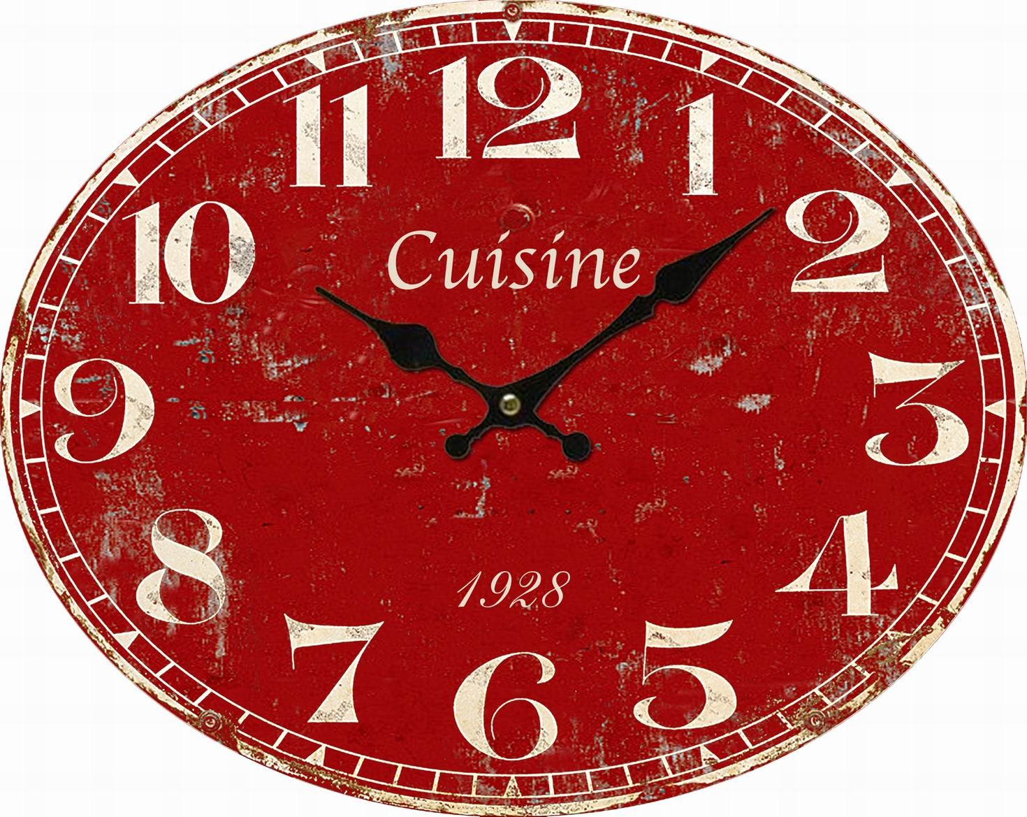 119 horloge de cuisine rouge horloge indus rouge sirius maisons du monde pendule murale. Black Bedroom Furniture Sets. Home Design Ideas