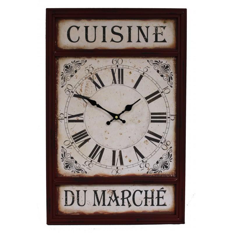 pendule cuisine du march 38x50 cm par antic line. Black Bedroom Furniture Sets. Home Design Ideas