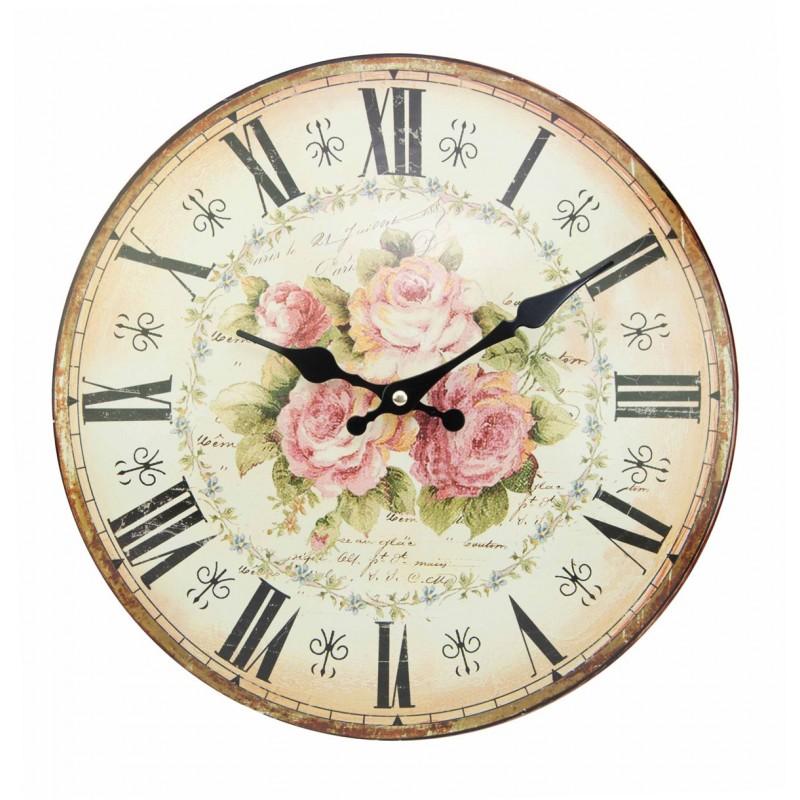 pendule bomb e d cor roses de 34 cm par antic line