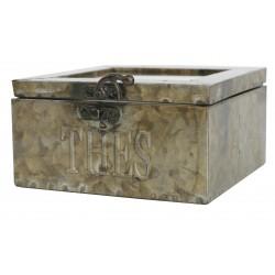 Zinc tea box