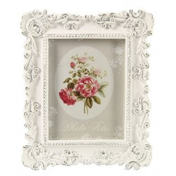 Rectangular photoframe Janneke old white S