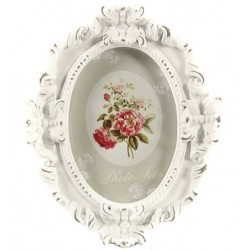 Oval photoframe Denise old white M