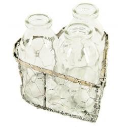 Vase coeur à bouteilles Chitina