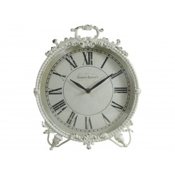 Clock with feet antique white