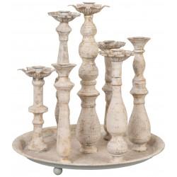 Plateau chandelier rond pour 7 bougies