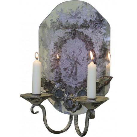 Miroir chandelier ange