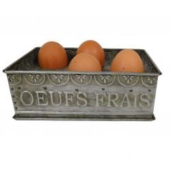 """Boîte en zinc """"OEUFS FRAIS"""""""