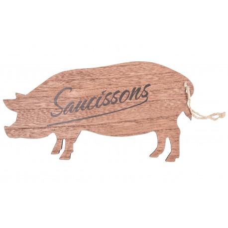 """Planchette """"Saucisson"""" en forme de cochon"""
