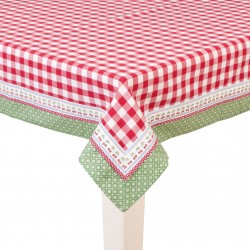 Red square tablecloth 150x150