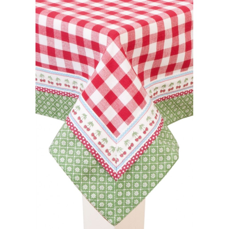 Red square tablecloth tablecloth 150 x 150 cm by Clayre & Eef
