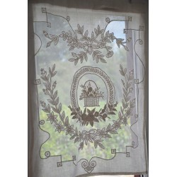 Mini curtain Porcelaine ivory 60 x 80 cm