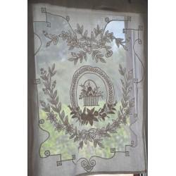 Mini rideau Porcelaine ivoire 60 x 80 cm