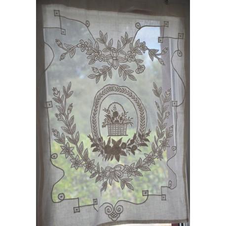 Mini curtain Porcelaine ivory 60 x 80 cm