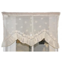 Mini curtain Bavaroise ivory 40 x 80 cm
