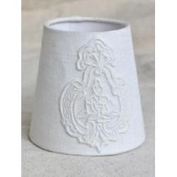 Abat jour Dauphine blanc - Diam 25 cm