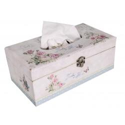 Boîte à mouchoirs fleurie