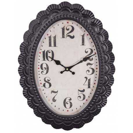 Oval Wall Clock Old Style By Antic Line Ideal For A