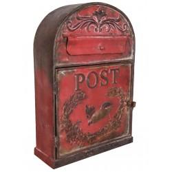 """Boîte aux lettres """"Post"""" bordeaux"""