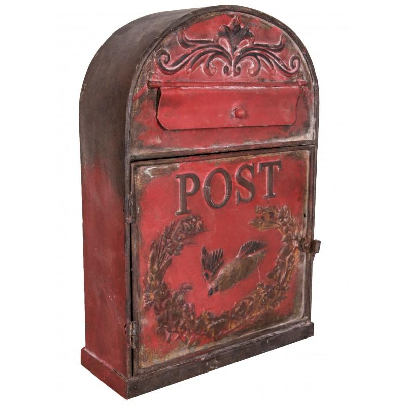 bo te aux lettres post bordeaux de chez antic line id ale pour une d co vintage. Black Bedroom Furniture Sets. Home Design Ideas