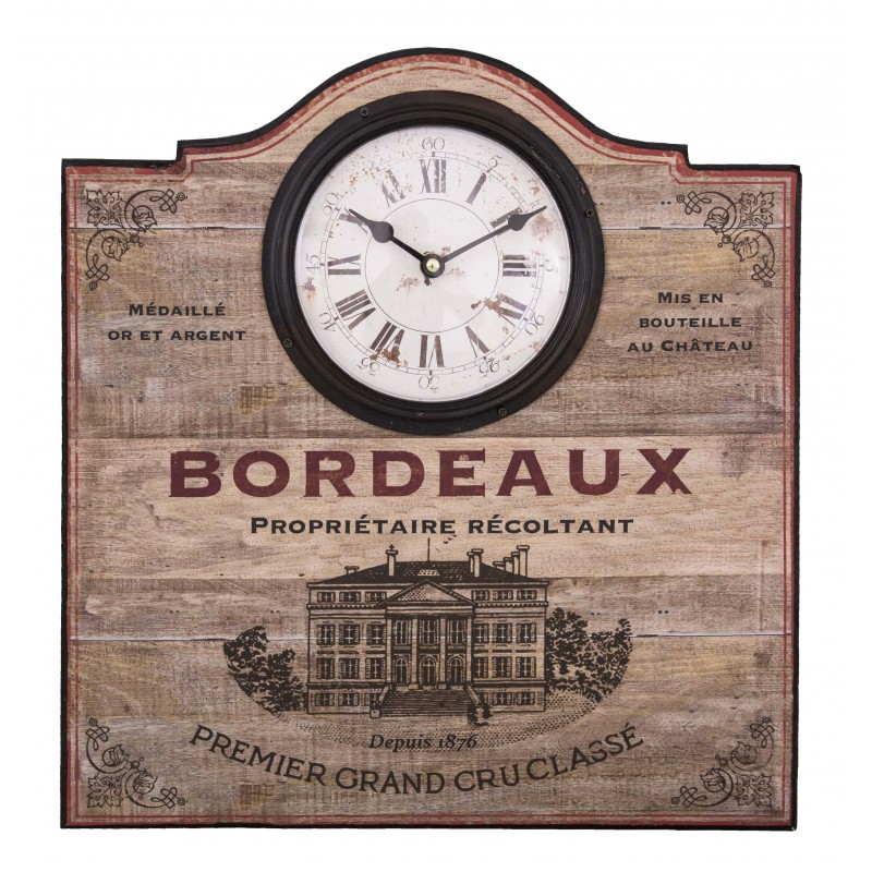 Wall Clock Bordeaux By Antic Line Ideal For A Shabby Chic
