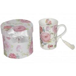 Coffret avec mug motif rose
